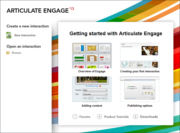 Tutorials Are Missing from Articulate Engage '13 Start Page